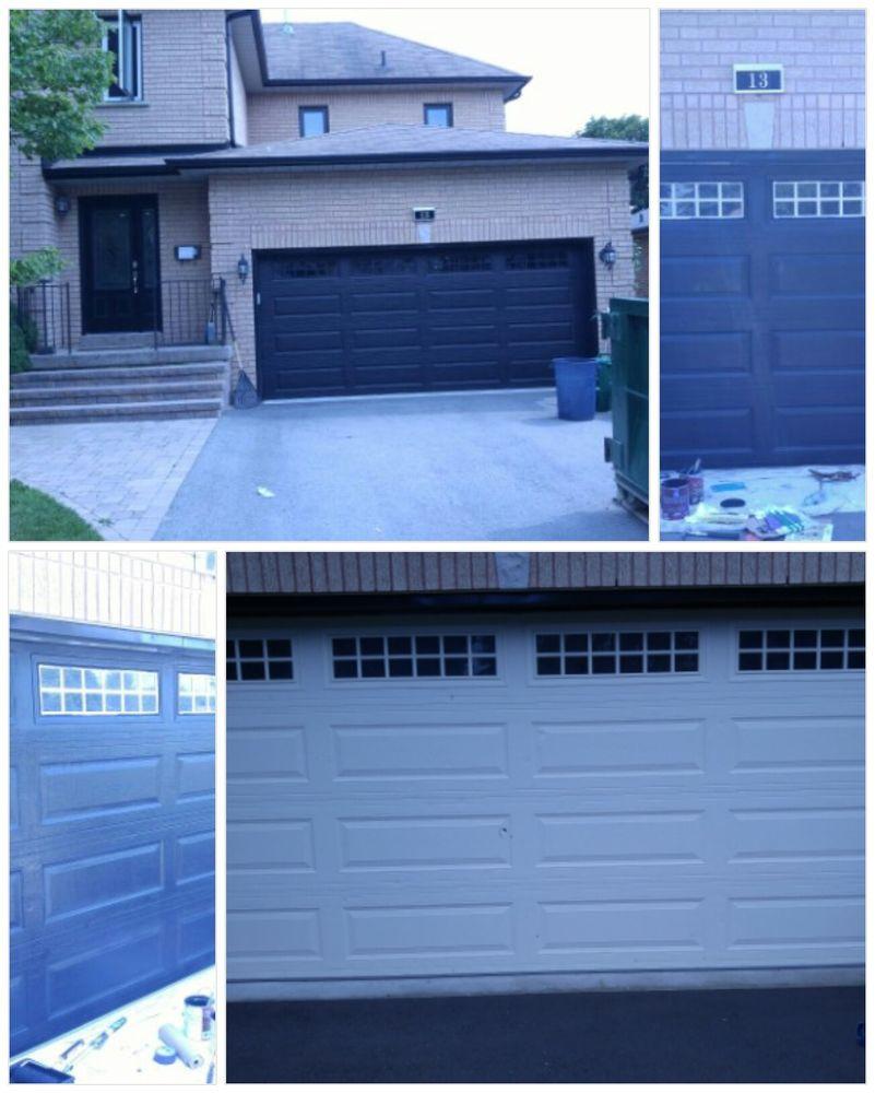 Photo Of Joel Phinnemore Painting   Pickering, ON, Canada. Paint Garage Door  And
