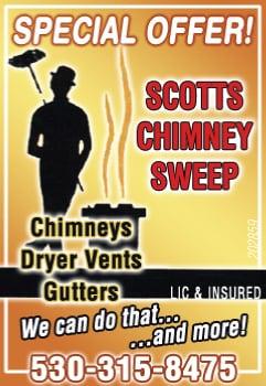 Scott's Chimney Sweep Dryer-Vents & Gutters: 665 Queens Ave, Yuba City, CA
