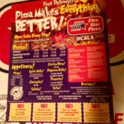 Five Star Pizza 14 Reviews Pizza 2425 Ne 18th Pl Ocala Fl