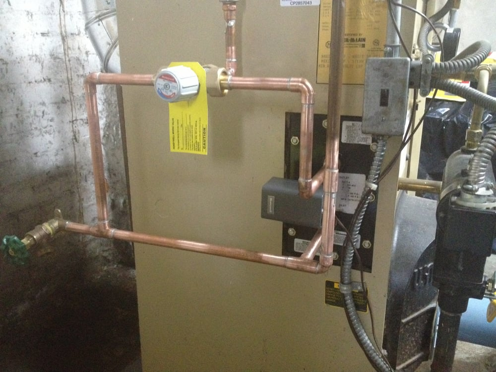 Coil For Boiler ~ Tankless water heater coil installation on a weil mcclain