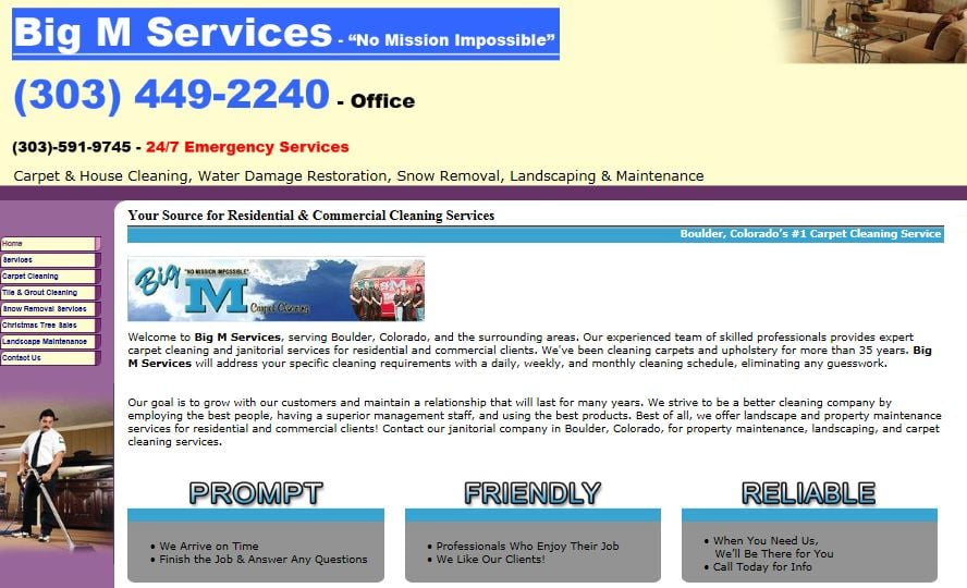 Big M Services: 2190 Orchard Ave, Boulder, CO