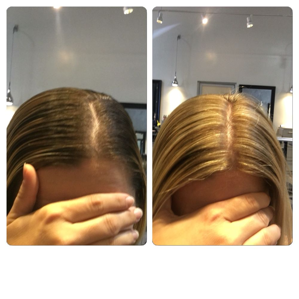 Before And After Hair By Christina Blonde Highlights And Base Bump