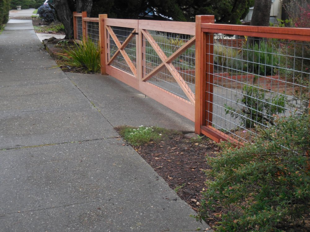 Hog Wire fence and drive gate San Rafael - Yelp