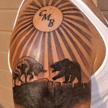 8e224097 Photo of Golden Skull Tattoo - Las Vegas, NV, United States. Awesome tribal
