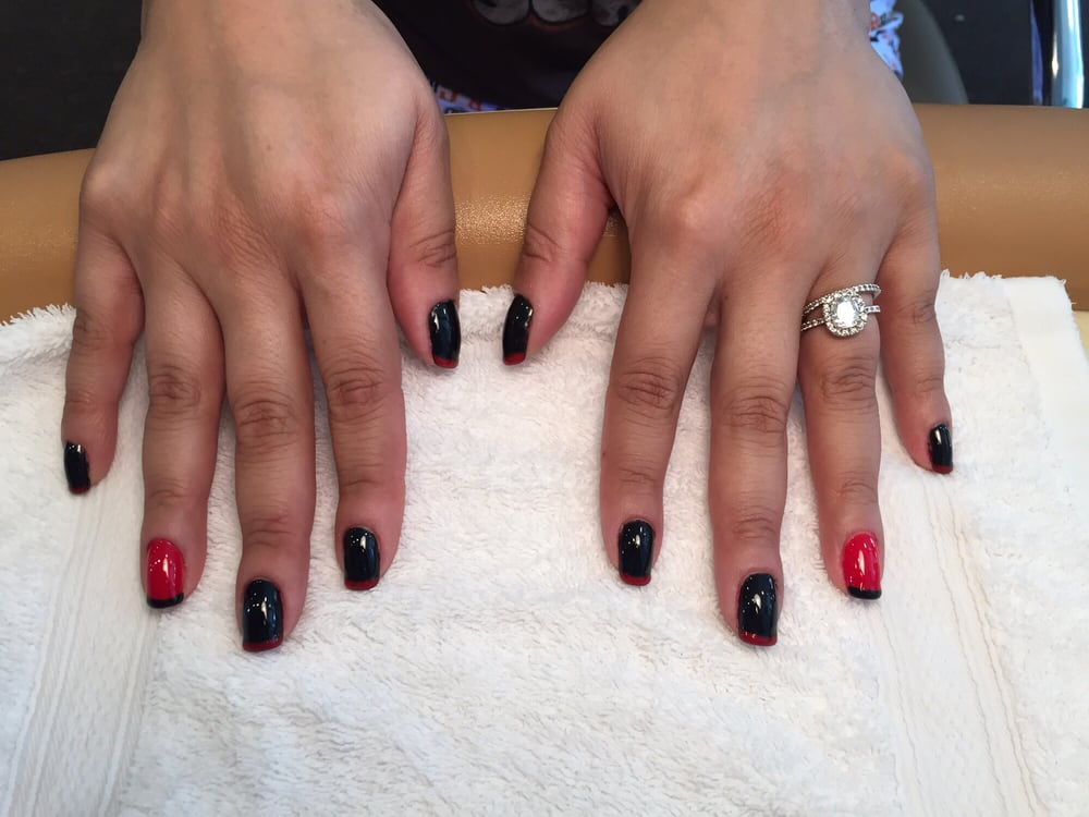 Black and red apple french gel manicure yelp for 4 sisters nail salon