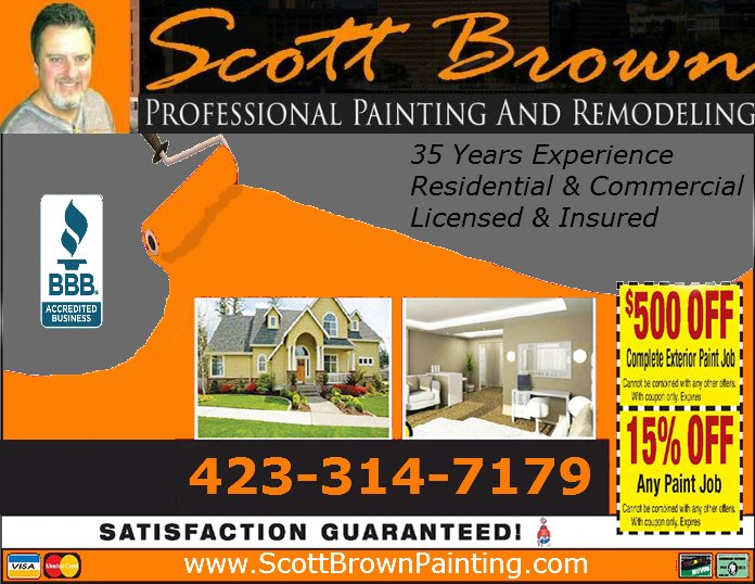 Scott Brown Professional Painting & Remodeling: 806 McHann Dr, Chattanooga, TN