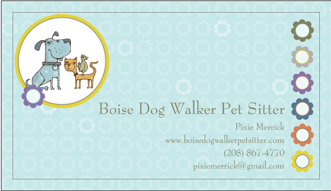 Boise dog walker pet sitter business card yelp photo of boise dog walker pet sitter boise id united states boise colourmoves