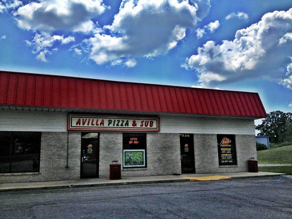 Avilla Pizza & Sub: 538 E Albion St, Avilla, IN