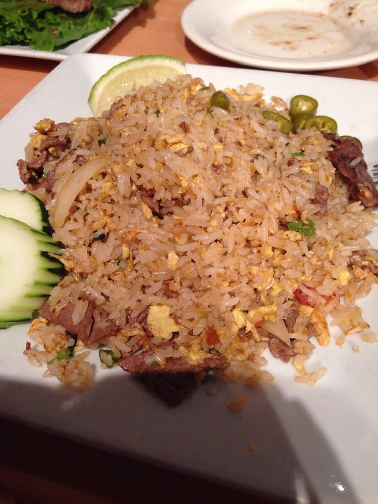 Thai fried rice with beef - Yelp