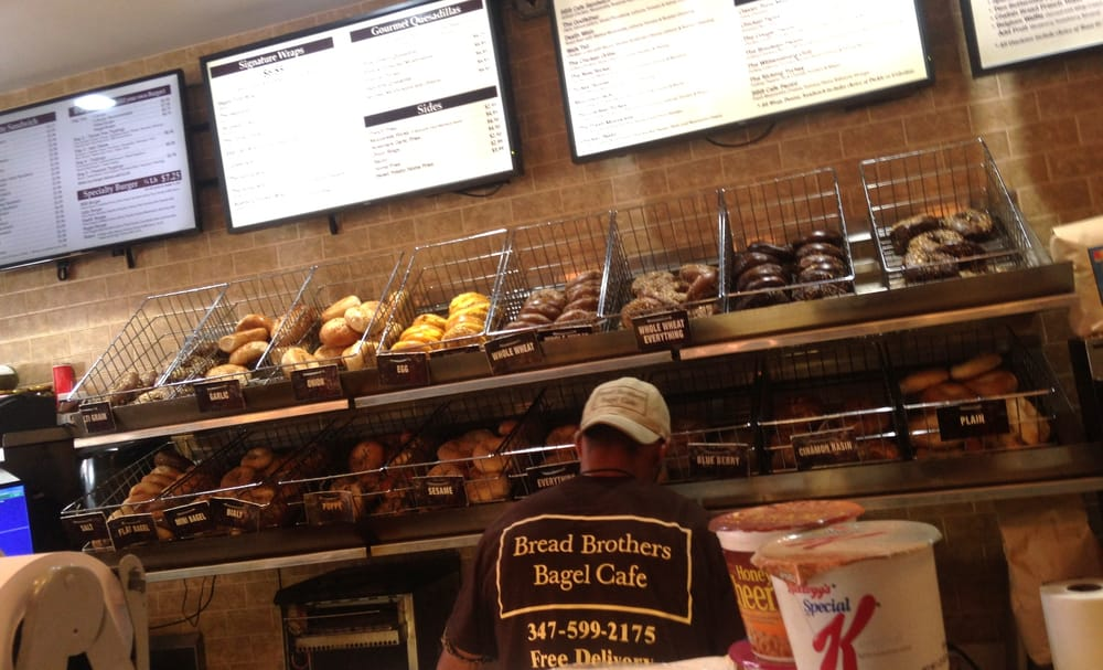 Bread Brothers Bagel Cafe - Greenpoint | 912 Manhattan Ave, Brooklyn, NY, 11222 | +1 (718) 576-3837