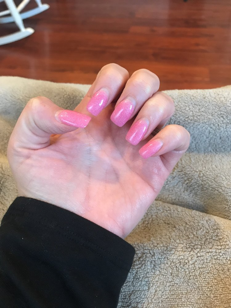 Dip gel nails 3 weeks old amazing service and never had nails last ...