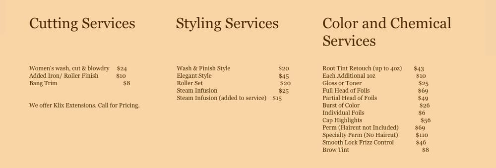 Hair Designers: 64023 Van Dyke Rd, Washington, MI