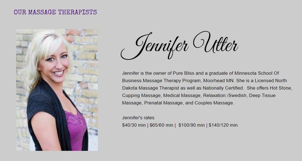 Pure Bliss Massage & Wellness: 1401 32nd S S, Fargo, ND