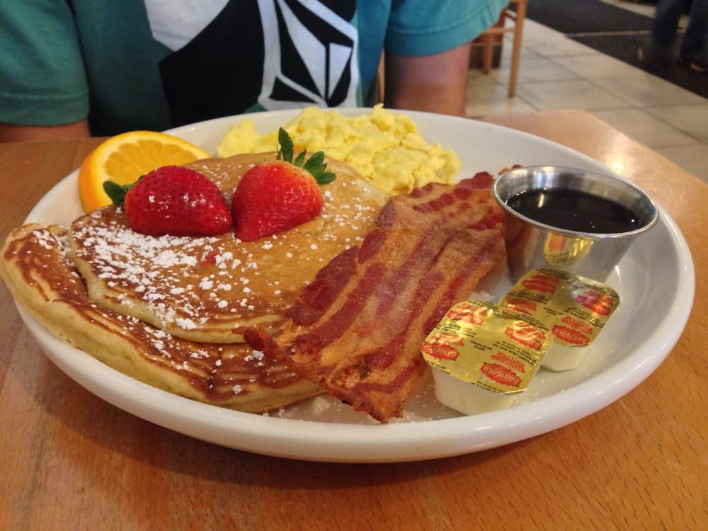 Combo - Scrambled Eggs, Bacon and Pancakes - Yelp