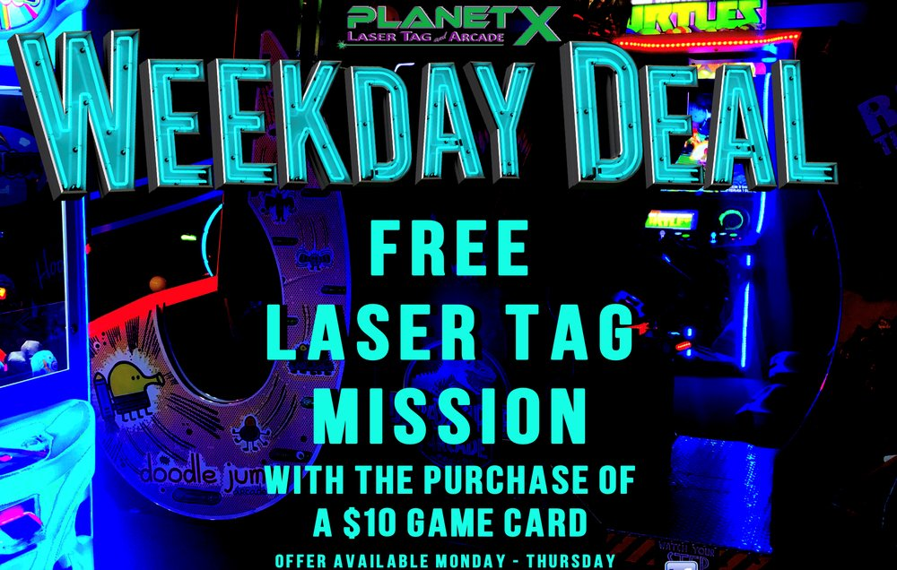 Planet X Laser Tag & Arcade: 205 Grand Central Mall, Vienna, WV