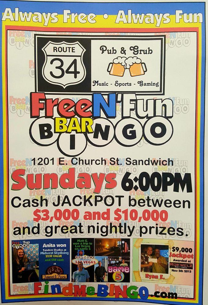Route 34 Pub & Grub: 1201 E Church St, Sandwich, IL