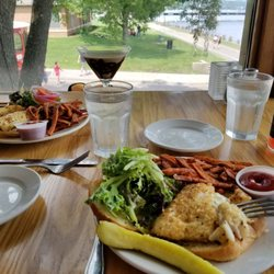 Photo Of Dock Cafe Stillwater Mn United States Panko Crusted Walleye Sandwiches