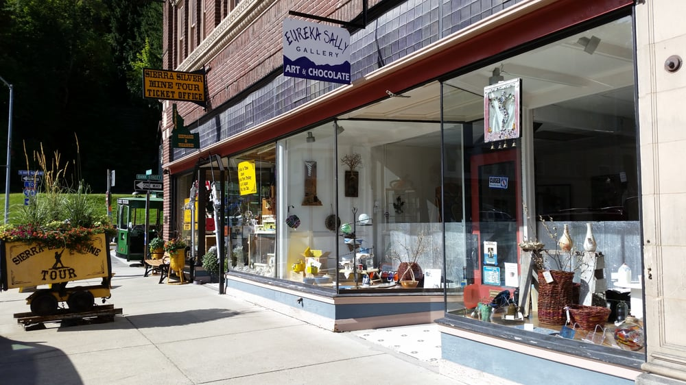 The EurekaSally Gallery of Art & Chocolate: 416 5th St, Wallace, ID