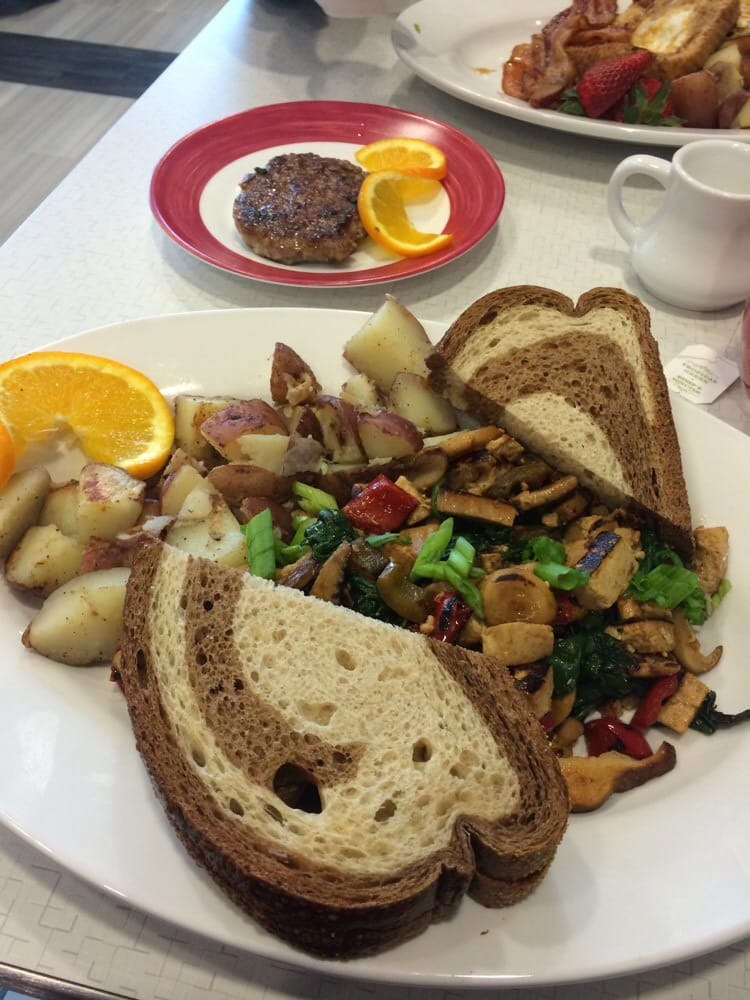 Tofu scramble with home made sausage yelp for Table 52 yelp