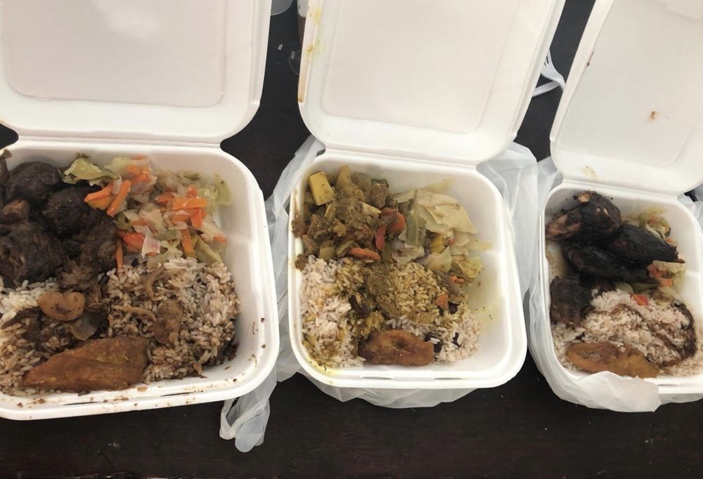 Food from Jamaican Queen Food Truck