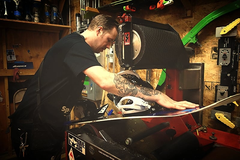 the best prices on ski and snowboard repairs and shop work