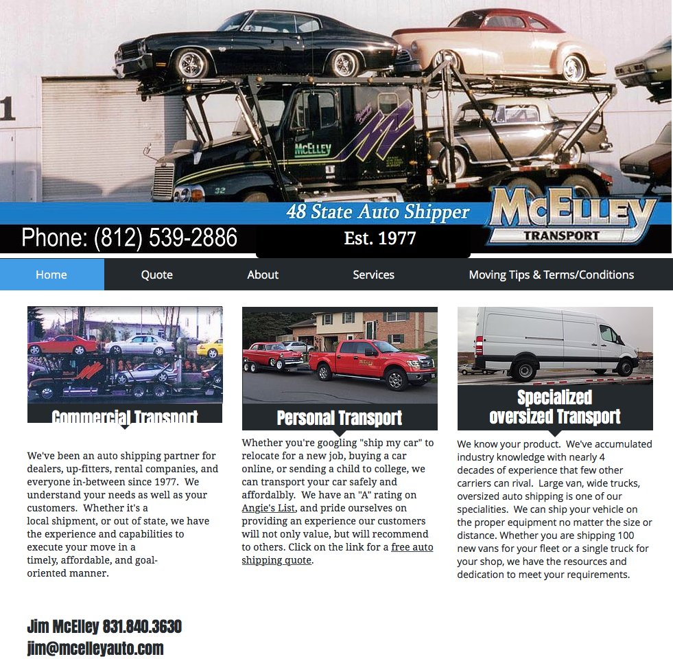 Autotransport: site map (articles)