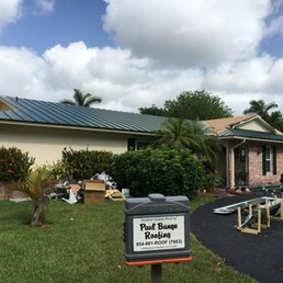 Photo Of Paul Bange Roofing Davie Fl United States A Metal Roof