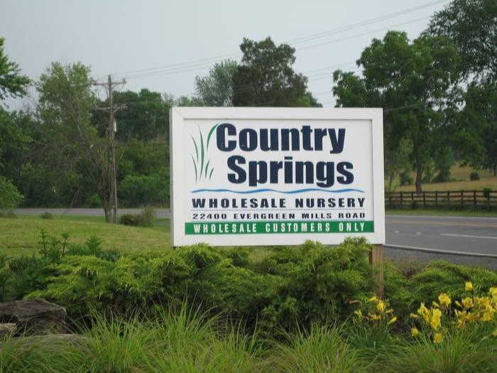 Country Springs Wholesale Nursery: 22400 Evergreen Mills Rd, Leesburg, VA