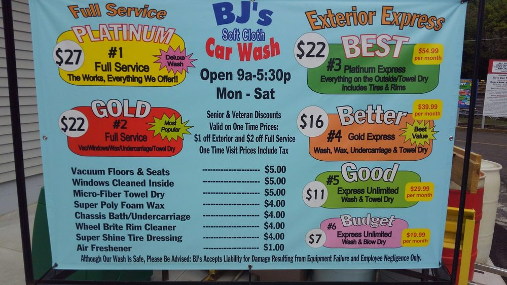 BJ's Brushless Car Wash LLC: 44 E Harrison St, Alliance, OH
