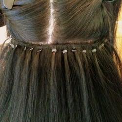 Stefanie alegria hair extension techniques hair stylists photo of stefanie alegria hair extension techniques corona ca united states weft pmusecretfo Images