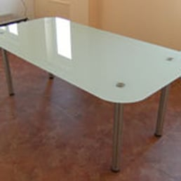 Photo Of Bear Glass NJ   Tinton Falls, NJ, United States. Back Painted.  Back Painted Glass Table Top