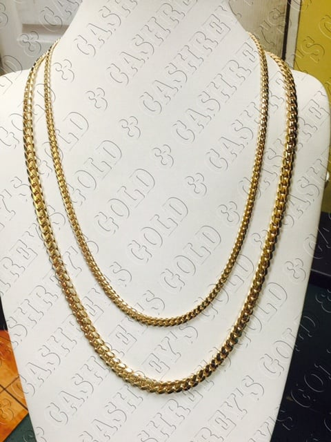 0081d0494590f Cuban Link Chains from 5.5mm and up. 10K, 14K, 18K White or Yellow ...