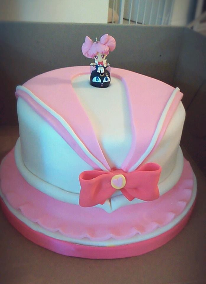 Sailormoon Pink Birthday Cake Made By Bad Ass Cakes My Cousin Added