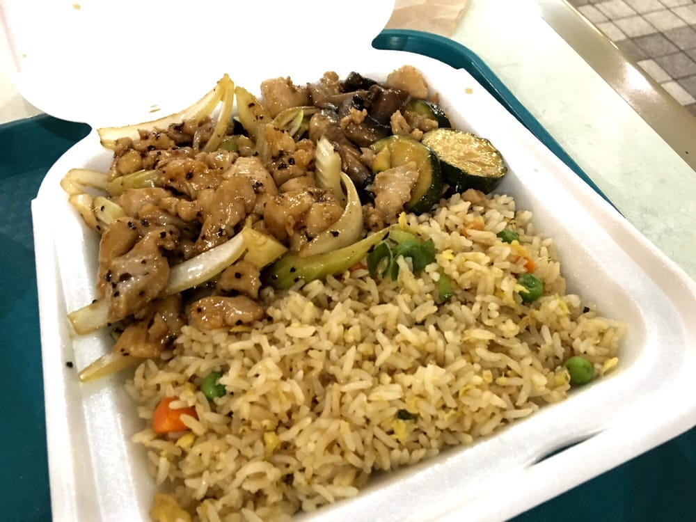 Black pepper chicken mushroom chicken fried rice yelp photo of panda express kahului hi united states black pepper chicken ccuart Images