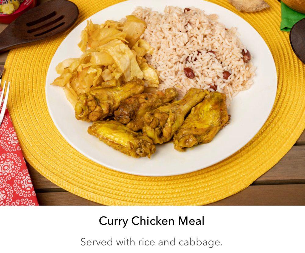 Food from Caribbean Jerk Pot