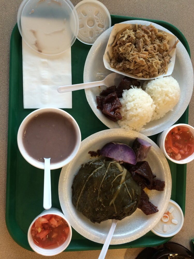 Me and my boyfriend got the kalua plate and laulau plate for Fish plates near me