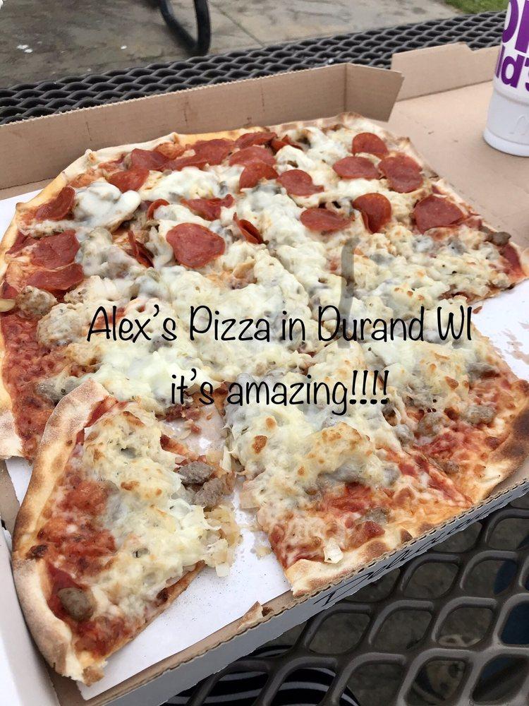 Alex's Pizza: 119 W Main St, Durand, WI