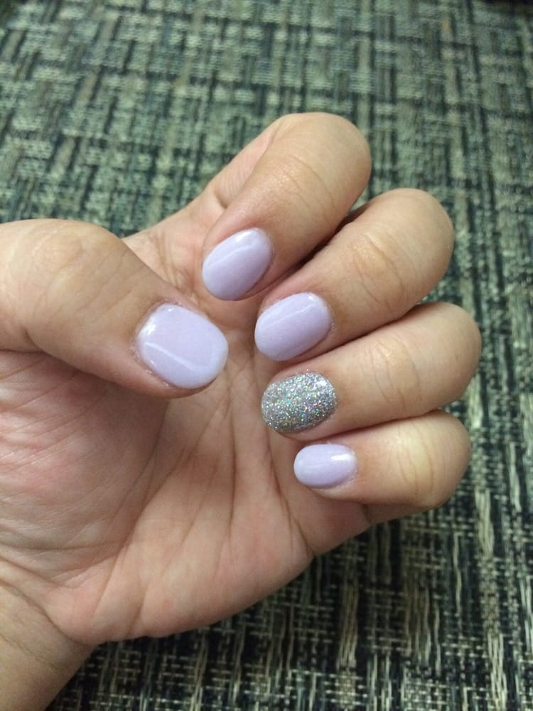 Lavender and Iridescent SNS Powder Nails. I truly love them. Great ...