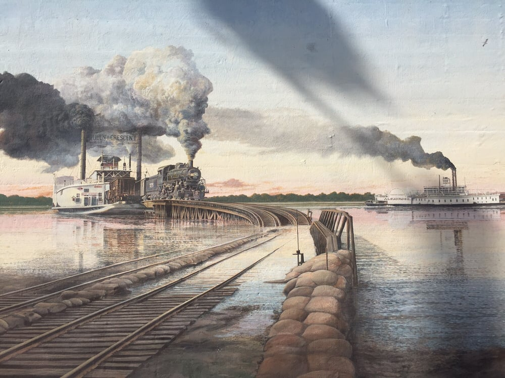 Vicksburg Riverfront Murals: 1201-1299 Levee St, Vicksburg, MS