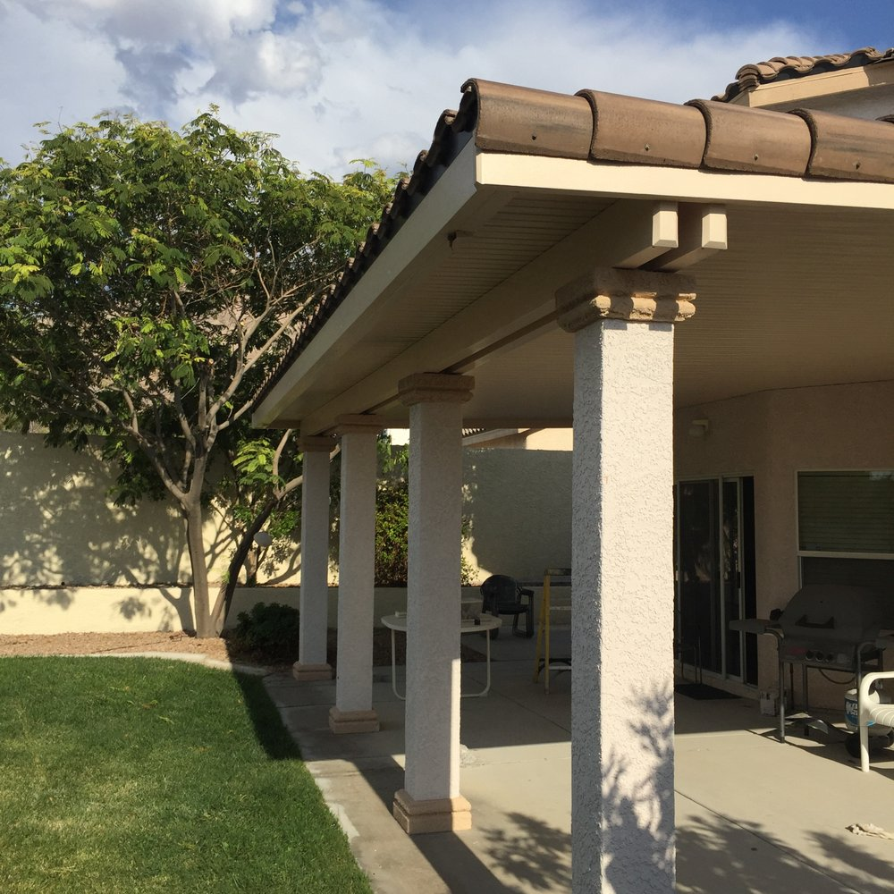 Solid Alumawood Aluminum Patio Cover Stucco Post And Cap