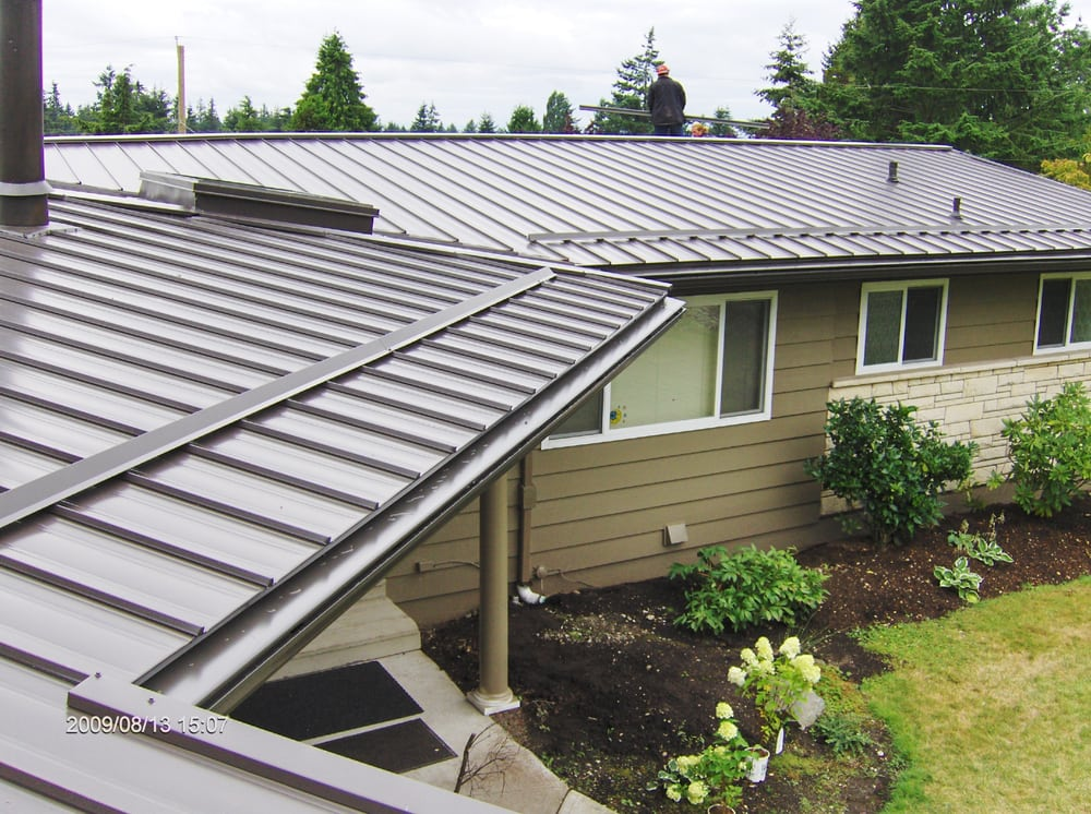 A I Roofing : Metal roof on a low slope yelp