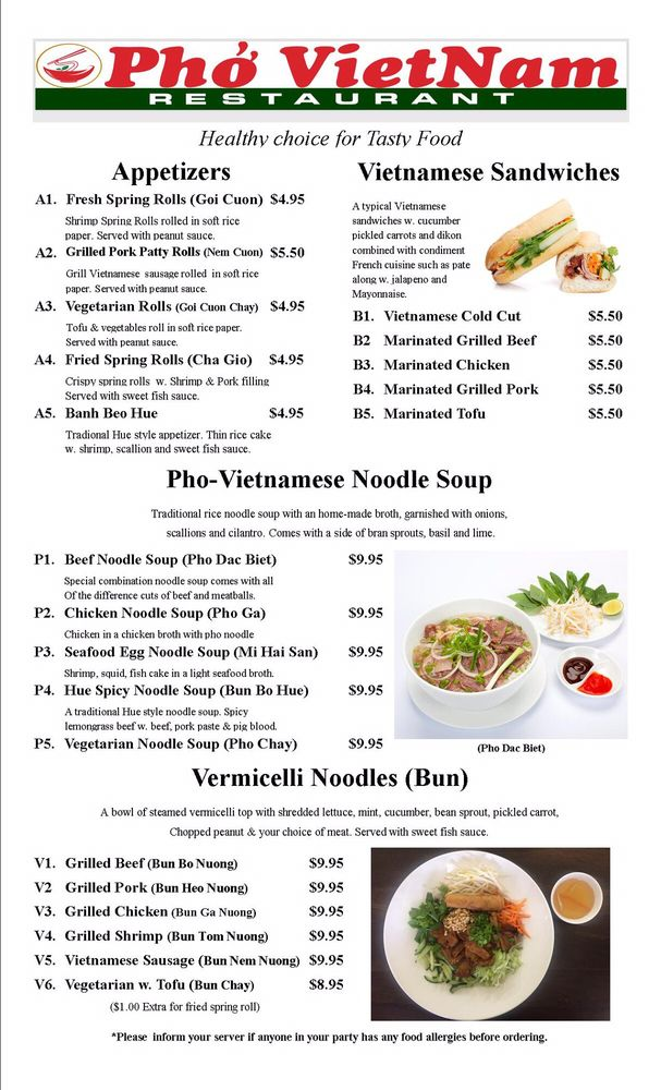 Online Menu Of Pho Vietnam Closed Restaurant Braintree Massachusetts 02184 Zmenu