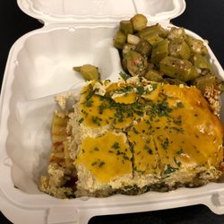 Photo Of Nuvegan Cafe Richmond Va United States Lasagna With Okra
