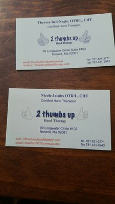 2 Thumbs Up Hand Therapy 99 Longwater Cir Norwell MA Physical