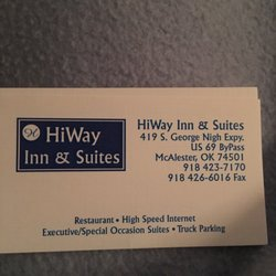 Hiway Inn & Suites - Hotels - 419 S George Nigh Expy, McAlester, OK