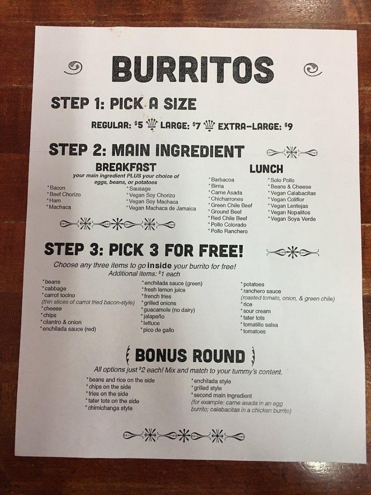 how to build a burrito
