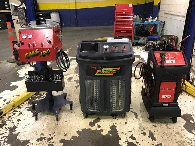 fluid exchange units  Brake fluid, power steering fluid