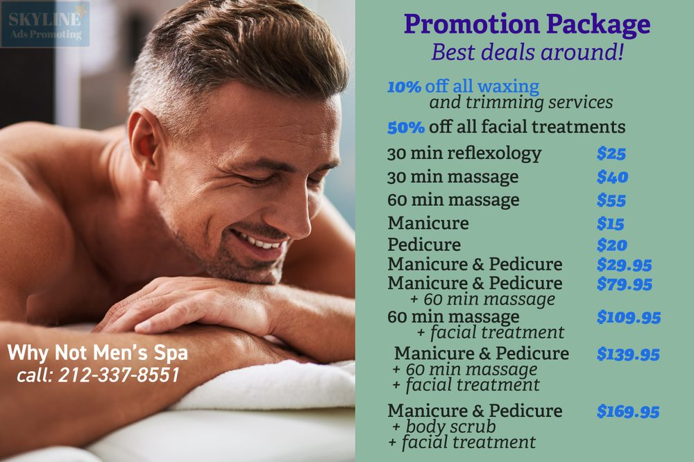 Why Not Men's Spa - 26 Photos & 78 Reviews - Waxing - 174-04 W 4th