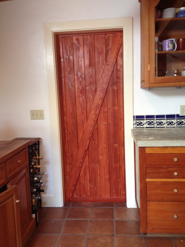 Interior View Of Barn Door Barn Style Kitchen Doors In Lieu Of