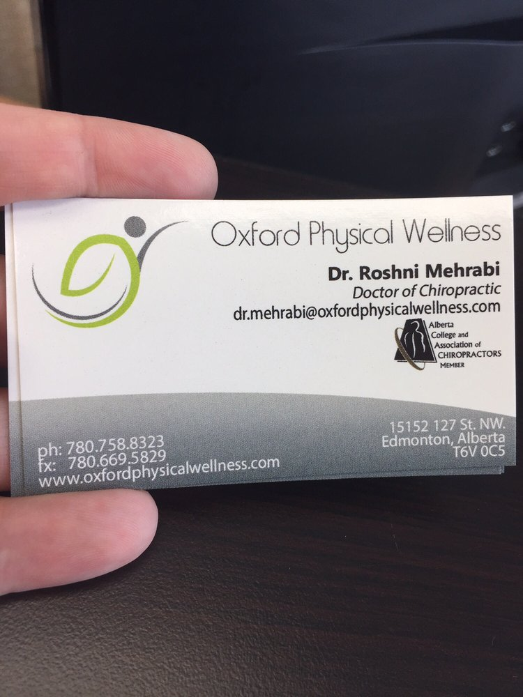 Oxford Physical Wellness - Chiropractors - 15152 127th Street NW ...